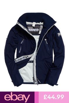 e88be713c1cf Shop Superdry Mens SD-Wind Attacker Jacket in Nautical Navy ecru. Buy now  with free delivery from the Official Superdry Store.