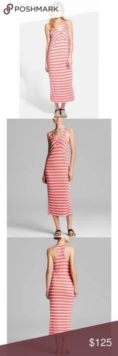 NEW Marc Jacobs $198 Miriam Maxi Dress. Small New with tags and no defects.  Style name: Miriam. Manufacturer color: Rosa Mexicana Multi. Hot pink/bright red with off-white perforated stripes and blue and gray detailing. Sleeveless with racerback.   Retails for $198.  Reasonable offers considered. Marc Jacobs Dresses Maxi