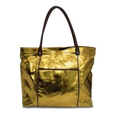 gold laptop tote
