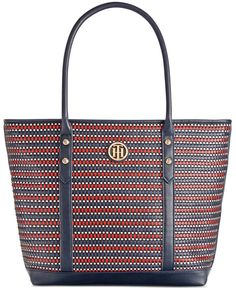 46e40a9b9b8e0 Tommy Hilfiger Hadley Woven Large Tote & Reviews - Handbags & Accessories -  Macy's
