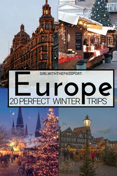 Looking for the perfect winter destination in Europe to add to your winter in Europe travel itinerary? Then check out these 20 amazing cities in Europe. From scenic winter landscapes in Scandinavia to skiing and winter sports in Switzerland, to winter sun City Trip Europe, Cities In Europe, Europe Travel Guide, Europe Weekend Trips, Europe Places, Europe Budget, Living In Europe, European Destination, European Travel