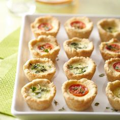 Change the toppings on these Mini Party Quiches and your guests will think you've made two different appetizers: http://www.bhg.com/recipes/party/appetizers/new-years-party-appetizer-recipes/?socsrc=bhgpin121213minipartyquiches&page=8 https://www.facebook.com/pages/All-I-want-for-Christmas/199719693547081?ref=hl