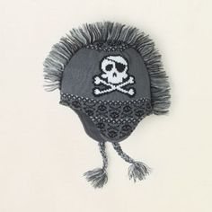 skull mohawk hat-Gotta get this for Bradyn :-)
