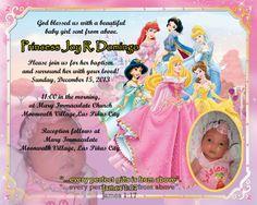 christening flat card invites