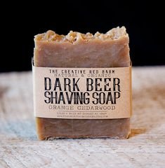 Beer Shaving Soap  Orange Cedar Wood Scented by TheCreativeRedBarn