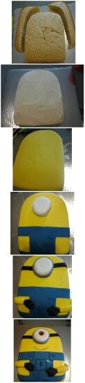 The making of a minion cake!