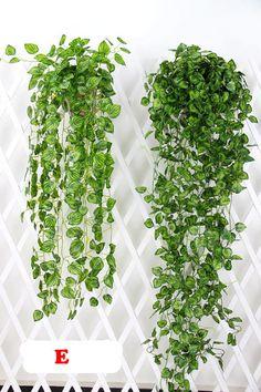 2 Bundle Artificial Ivy Leaf Garland Hanging by HandcraftsInStudio