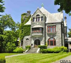 10 Thurlow Ter, Albany, NY 12203 million 3 bath Beautiful Buildings, Beautiful Homes, Old Mansions, Castle House, Gothic House, Stone Houses, Victorian Homes, Real Estate Marketing, Old Houses
