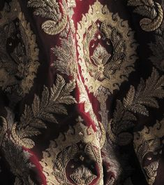 Detail of Rossini couture fabric in red and gold by Beaumont & Fletcher Great Comet Of 1812, The Great Comet, Narnia, Olgierd Von Everec, Gellert Grindelwald, Captive Prince, Six Of Crows, Markova, Spiritus