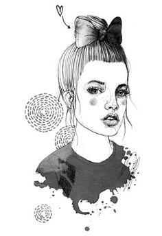 Fashion illustration - pretty fashion drawing // Silke Werzinger