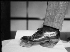 """""""Cow shoes"""" worn by moonshiners during the 1930's prohibition to hide their tracks from prohibition agents were worn by many in rural West Virginia counties. wem"""