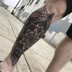 ▷▷ Mandala tattoos 【ON THE LEG】 (Male - Female) - Mandala tattoos on the leg - Knee Tattoo, Elbow Tattoos, Leg Tattoo Men, 1 Tattoo, Calf Tattoo, Sleeve Tattoos, Forarm Tattoos, Life Tattoos, Body Art Tattoos