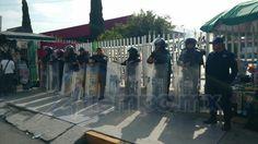 Una vez más, toman las oficinas centrales de la Secretaría de Educación en Michoacán (FOTO: FRANCISCO ALBERTO SOTOMAYOR)