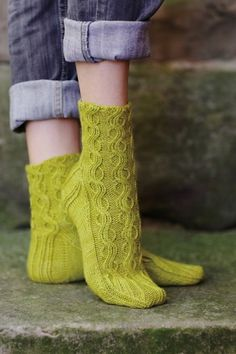 """Zostera Marina Sock Kit - priced from $17.00 to $43.95. """"Gorgeous cabled ankle length socks."""""""