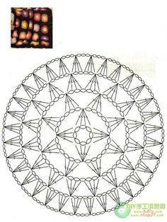 Afbeeldingsresultaat voor mandalas tejidas a crochet patrones Motif Mandala Crochet, Crochet Circles, Crochet Motifs, Crochet Diagram, Crochet Stitches Patterns, Doily Patterns, Crochet Chart, Crochet Squares, Crochet Granny