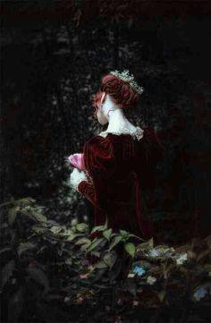 Queen in the rose garden