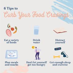 Stop your food cravings and maintain a healthy diet with these tips, including eating a variety of foods, meal and snack planning. Nutritious Snacks, Healthy Snacks, Mindful Eating, Sleepless Nights, Types Of Food, Balanced Diet, Food Cravings, Things To Know, Junk Food