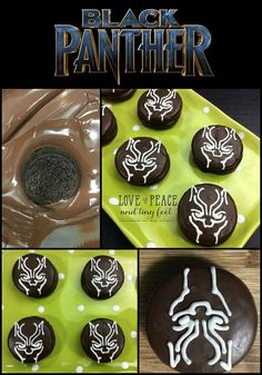 Are you a Black Panther fan? If you are, celebrate the showing of this thrilling movie that's set to be released on February 2018 by making these Black Panther Oreo cookies! They're so easy and so much fun to make. Check them out! Chocolate Melting Wafers, Chocolate Covered Oreos, Oreo Cookie Recipes, Oreo Cookies, Superhero Birthday Party, Birthday Parties, 5th Birthday, Cream Of Tarter, Black Panther Party