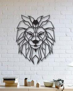 Aslan Metal Tablo - Lion