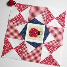 Block 21 - North North West.  I set out to make the True North block from the Quilt Block Cookbook but I got in a muddle with the arrangement.