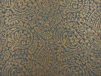 Licia Wallcovering Nori/Antique Gold | Samsara Wallcoverings | Licia W328 | Romo Fabrics | Designer Fabrics & Wallcoverings, Upholstery Fabrics