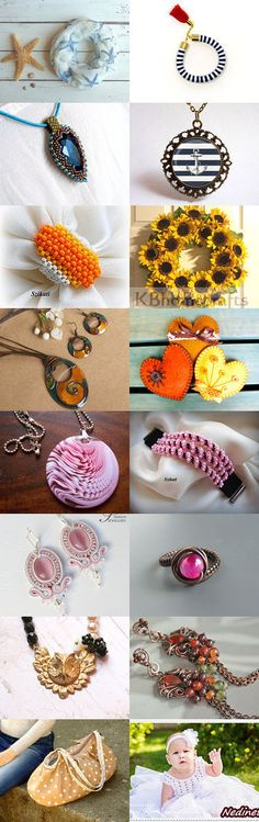 Summer by Csilla on Etsy--Pinned with TreasuryPin.com Crochet Earrings, Summer, Etsy, Jewelry, Jewellery Making, Summer Time, Jewels, Summer Recipes, Jewlery
