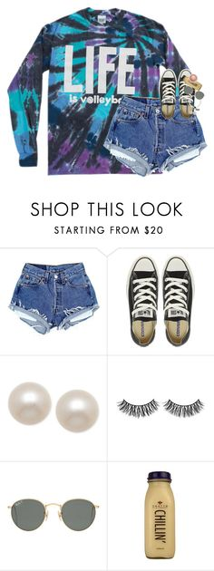 """""""thinking ab making a tumblr:-)"""" by classynsouthern ❤ liked on Polyvore featuring Converse, Honora, Rimini, Ray-Ban, CO and MAC Cosmetics"""