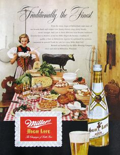 1951 Miller High Life ad (from #RetroReveries)