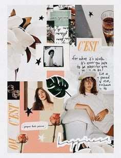 54 Ideas For Fashion Collage Illustration Mood Boards Layout Design, Web Design, Graphic Design, Branding, Brand Identity, Art Mots, Photo Pour Instagram, Instagram Collage, Magazine Collage