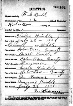 Bedford County Death Records Search (Tennessee)