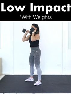 Sculpt, strengthen and burn fat with this low impact high intensity circuit. No Jumping and No Noise‼️Plus bonus bodyweight modifications included if you have no equipment at home ** Just grab 2 water bottles Full Body Hiit Workout, Hiit Workout At Home, Fitness Workout For Women, Dumbbell Workout, Workout Videos, At Home Workouts, Fat Workout, Fat Burning Workout, Home Workout With Weights