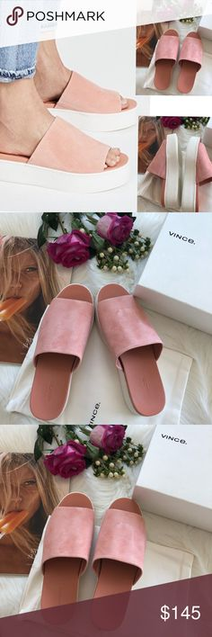 ca4bf3e2b34c Vince Walford Flatform Suede Slide 🌹Please read the description and review  all photos!Thanks
