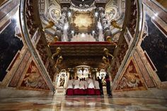 The first Pope's Tomb- Under the altar in St. Peter's Basilica