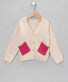 Keep cozy in the face of a chilly breeze with a sweet cardigan! Little scholars will look polished and chic on the playground in this simple yet bold, washable sweater. 100% viscoseMachine washImported