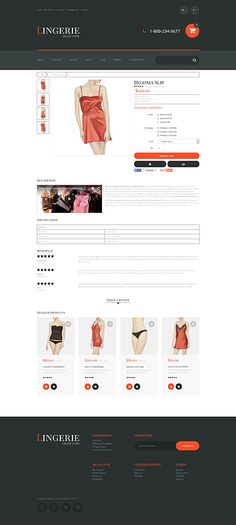 Fashion website inspirations at your coffee break? Browse for more OpenCart #templates! // Regular price: $89 // Sources available: .PSD, .PNG, .PHP, .TPL, .JS #Fashion #OpenCart