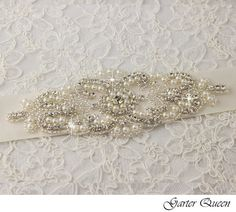 Bridal sash, Bridal belt , Wedding sash - satin ribbon with crystal and rhinestone beaded applique, custom color