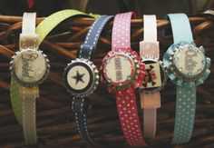 Bottle cap bracelets... stylish And recycled!