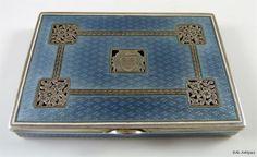 Art Nouveau Austro Hungarian Silver Enamel Box 1920s