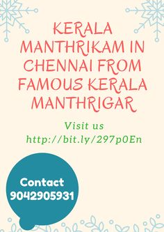 #‎kerala‬ Manthrikam in ‪#‎Chennai‬ by best Astrologers Contact us:9042905931 http://bit.ly/297p0En