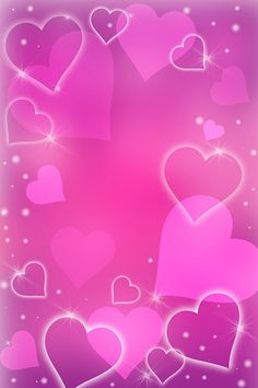 Heart Shapes Background.
