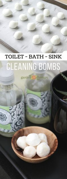 All-Natural DIY Cleaning Bombs - These fizzy cleaning bombs are an effective and safe way to quickly and easily clean up toilets, drains, and garbage disposals. Just pop one of these babies in the drain and it will fizz away any grease, buildup, and stinky odors that may be lingering. They contain all-natural ingredients so you don't need to worry about coming into contact with harsh chemicals that most store-bought household cleaners contain, and they are packaging-free!