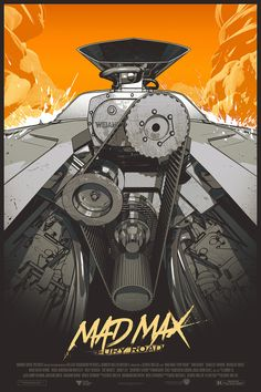 pixalry: Mad Max: Fury Road Poster - Created by Lesley Quist Mad Max Fury Road, Mad Max Poster, The Road Warriors, Plakat Design, Alternative Movie Posters, Car Posters, Movie Poster Art, Comic Movies, Comic Books