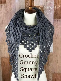 I love a granny square, but not always in the traditional square shape. Enter the Dark Comfort Shawl from Rhondda at Oombawka Designs. This is a great crochet granny square shawl pattern and certainly a good option for an easy crochet pattern.