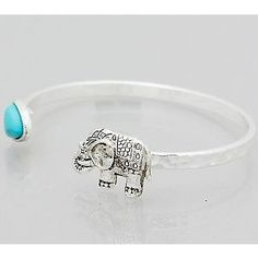 Elephant Heart Cuff Bracelet