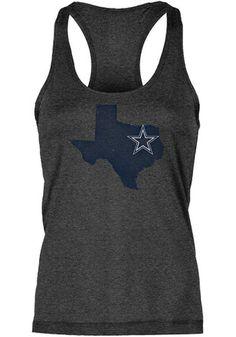 Dallas Cowboys Womens Black Lone State Tank Top