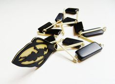 Art Deco Necklace Celluloid Silhouette by IfindUseekVintage, $60.00