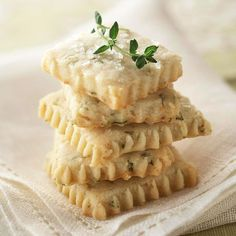 For a refreshing spring treat, try our tasty Lemon-Thyme Cookies. See more spring desserts: http://www.bhg.com/recipes/party/seasonal/spring-baking-ideas/?socsrc=bhgpin041513lemonthymecookies=13