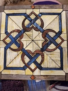 Barn Quilt Designs, Barn Quilt Patterns, Quilting Designs, Quilting Ideas, Star Quilts, Quilt Blocks, Celtic Quilt, Painted Barn Quilts, Wood Wall Design