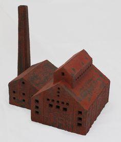 Factory 9. José van den Tweel, 2012. Clay finished with engobe, 32x43x28cm.