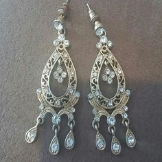 Selling this Gorgeous chandelier earrings! in my Poshmark closet! My username is: karpediem22. #shopmycloset #poshmark #fashion #shopping #style #forsale #Jewelry